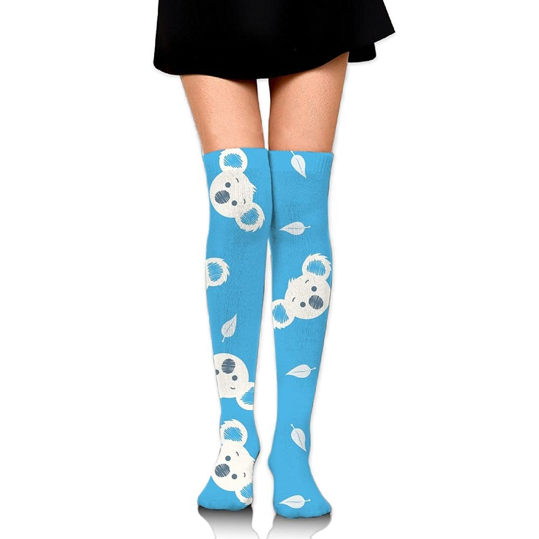 Zaqxsw Blue Koala Women Cool Thigh High Socks Girls Socks For Womens