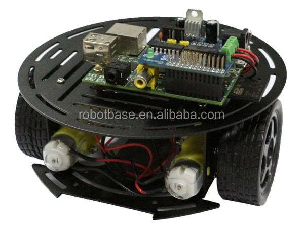AS-2WD Aluminium Mobile Robotic Car Platform(1:48 DC Motor) black
