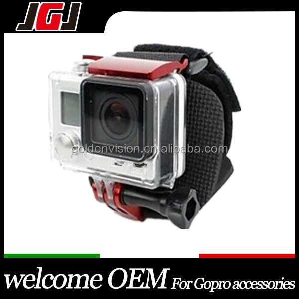 Go pro Accessories Set Wrist Clip Belt + Aluminum Mount Kit For Gopro Hero3+
