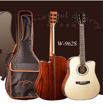 China Handmade All Solid Wood Acoustic Guitar Electrical Guitar With