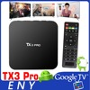 android 6.0 marshmallow tv box kodi 16.1 S905X 1G 8G TX3 Pro Enybox smart tv remote control