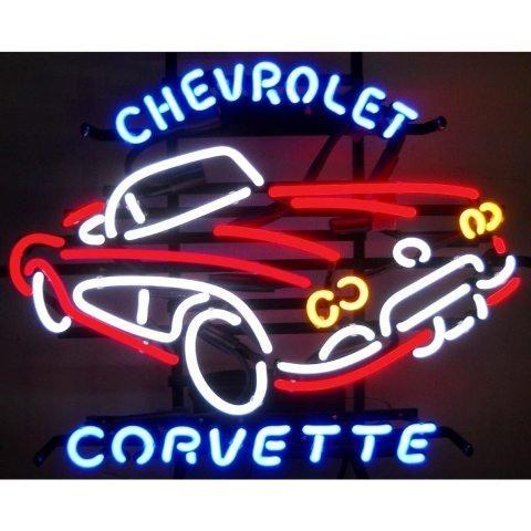 Neonetics 5CORVX Cars and Motorcycles GM Corvette Car C1 1950s Neon Sign