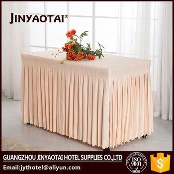 Polyester Plain Visa Table Skirts Wedding Banquet Conference Table - Conference table skirts