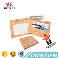 Slim bifold pures cork mens wallet with RFID blocking