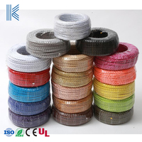 CE Edison Textile Fabric Electrical Wire Chandelier Pendant Lamp Wires Vintage Lamp Cord Braided Electrical Cable