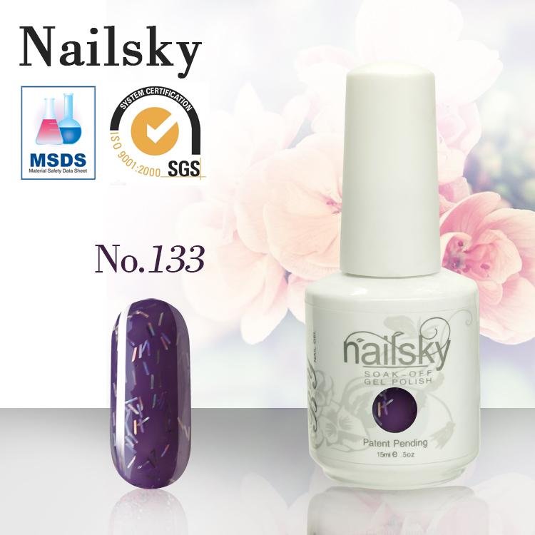 030# Navy Blue 15ml White Bottle Soak Off Color Nail ...