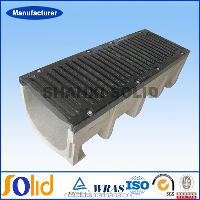 High Load Drain Gutters Polymer Concrete Rain Drainage Channel