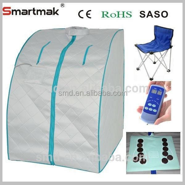 smartmak hot new products indoor portable health and beauty sauna, one person Far Infrared Portable dry Sauna SMT-015