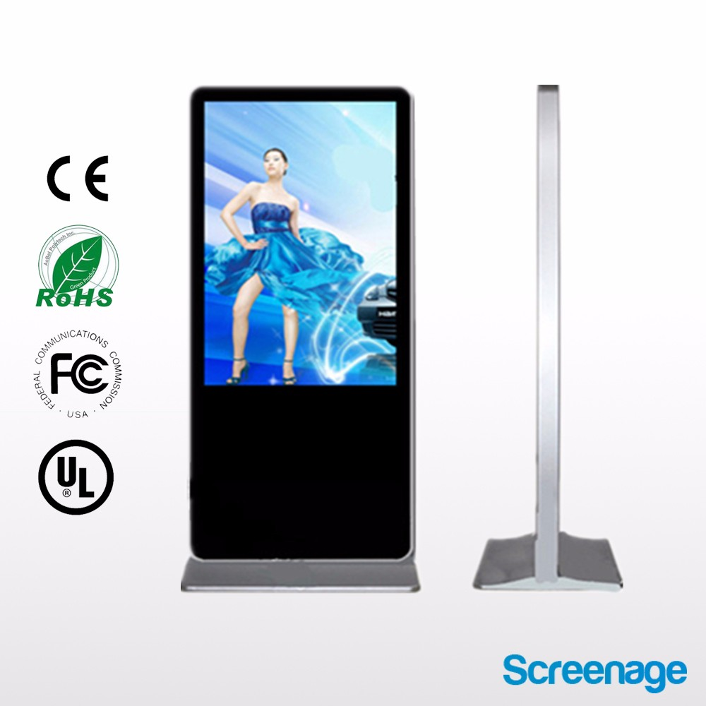 "Customized! 42"" 49"" 65""LCD brochure holder standalone nec digital signage , standing advertising display panel"