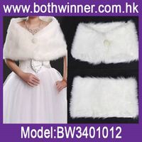 Innovative new products shawl style coat ,h0tsu faux fur shawl white for sale