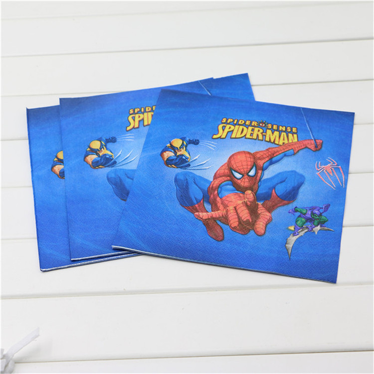 Cartoon Themed Boys Birthday Decorations Spiderman Birthday Party Supplies Plates