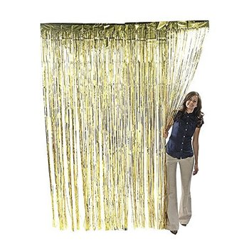 metallic gold foil fringe door curtains for partychristmas home decoration - Foil Christmas Door Decorations
