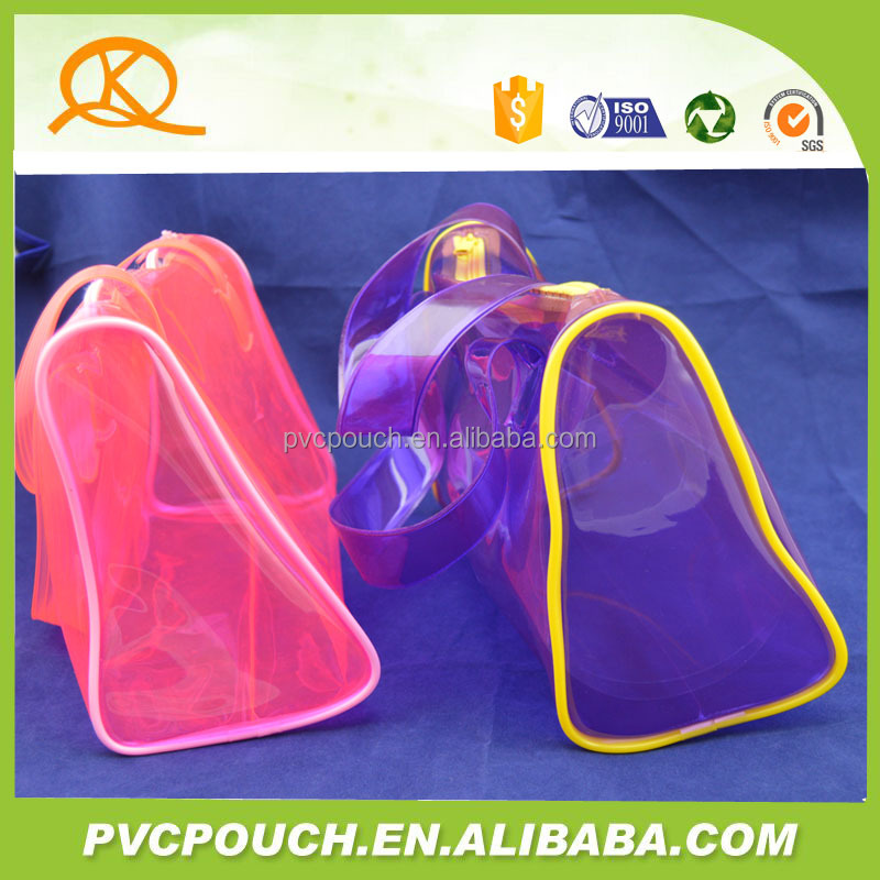 pvc tote bag / pvc plastic hand bag / candy zipper bag