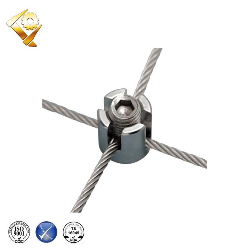 Stainless Steel Wire Rope Cross Clamp - Buy Cross Clamp,Wire Rope ...