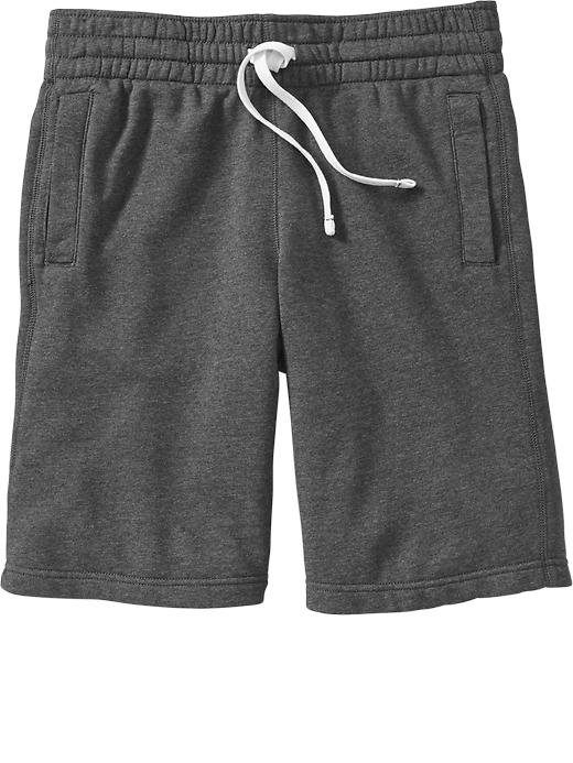 Mens French Terry Fleece Sweat Fabric Elastic Waist Gym Shorts ...