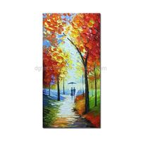 Cheap beautiful wall hanging modern bright picture handmade abstract oil paintings