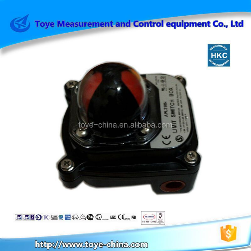 3 way valve limit safety switch