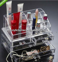 Acrylic cosmetic organizer-y1308277/store makeup organizer/acrylic jewelry box holder with several compartments