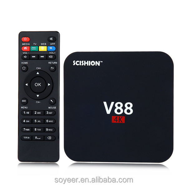 Soyeer Free Shipping android <strong>tv</strong> <strong>box</strong> RK3229 V88 Android 6.0 <strong>TV</strong> <strong>BOX</strong> 1G 8G <strong>Set</strong> <strong>Top</strong> <strong>Box</strong> V88