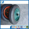Qingdao manufacturer heavy duty 14x4 solid rubber wheels