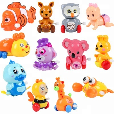 Hot selling funny Education toys for kids 2018 cartoon plastic animal wind up toys