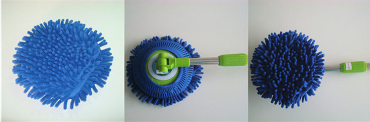 Eco-friendly quick-dry round spin&go smart mop head