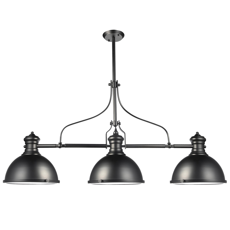 "VONN VVC31203BZ Industrial 53"" Led Linear Chandelier, Industrial Chandelier Lighting with LED Filament Bulbs, Hanging Light, Dorado Collection, Architectural Bronze"