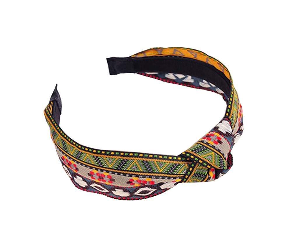 Get Quotations · Sweet National Wide Edge Headband Retro Checkered Headdress 7b3b351dc52b