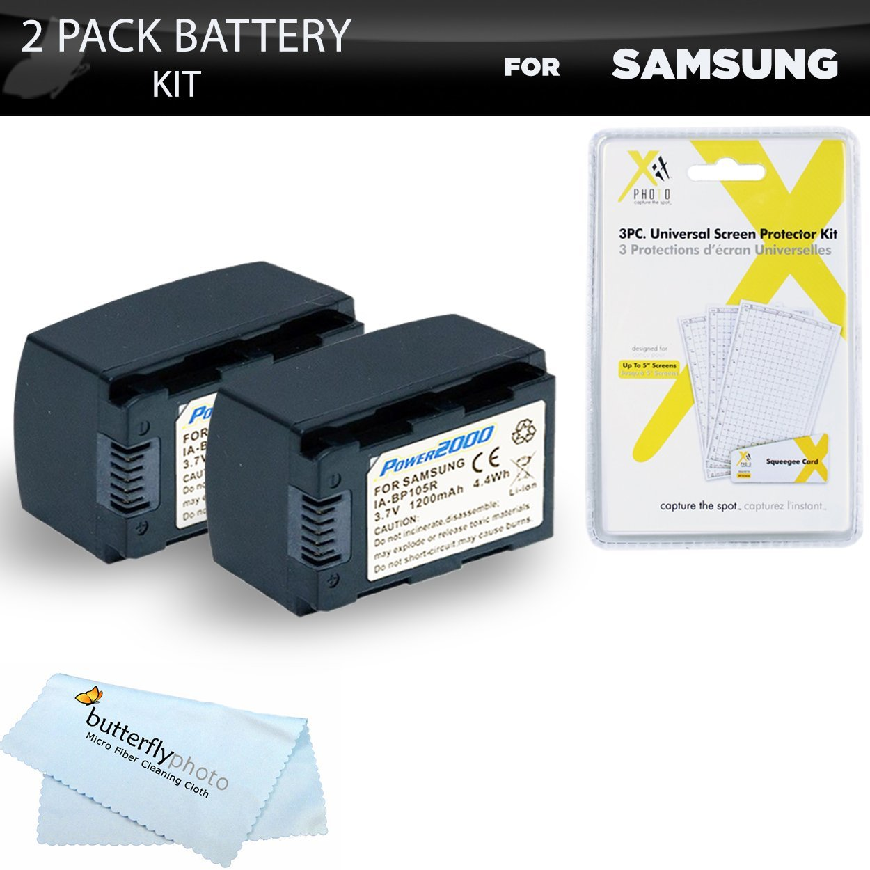 Get Quotations · 2pk Samsung HMX-F90, HMX-F90, HMX-F90BN, HMX-