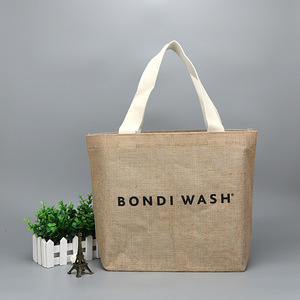 Waterproof Durable Custom Printed Shopping Jute Bag