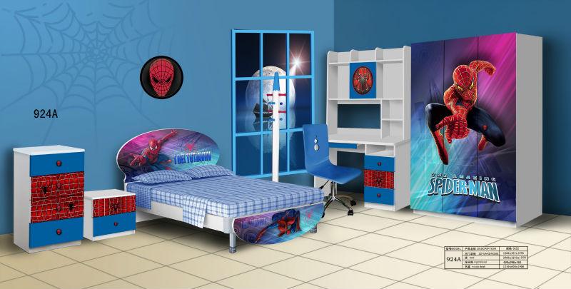 Children Bedroom Furniture Spiderman Cartoons Designs For Kids 924a   Buy  Spiderman Cartoons For Kids,Children Bedroom Furniture,Kids Bedroom Sets ...