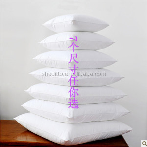 Any size available sofa cushion skin fabric blank white inner cushion pillow inner duck feather pillow cushion for hotel