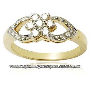 Pave Setting Diamond RingCasting Diamond Gold Jewelry RingsFine