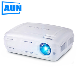 AUN AKEY2 LED Projector, 3500 Lumens Android 6.0 Beamer. Built-in WIFI, Bluetooth, Support 4K Video, Full HD 1080p