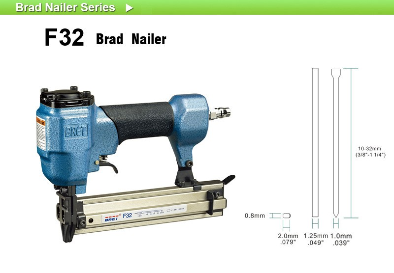 F32 Air Nailer Interior Finishing Brad Gun