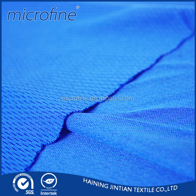 Breathable polyester knitted quick dry mesh polo shirt fabric for sportswear