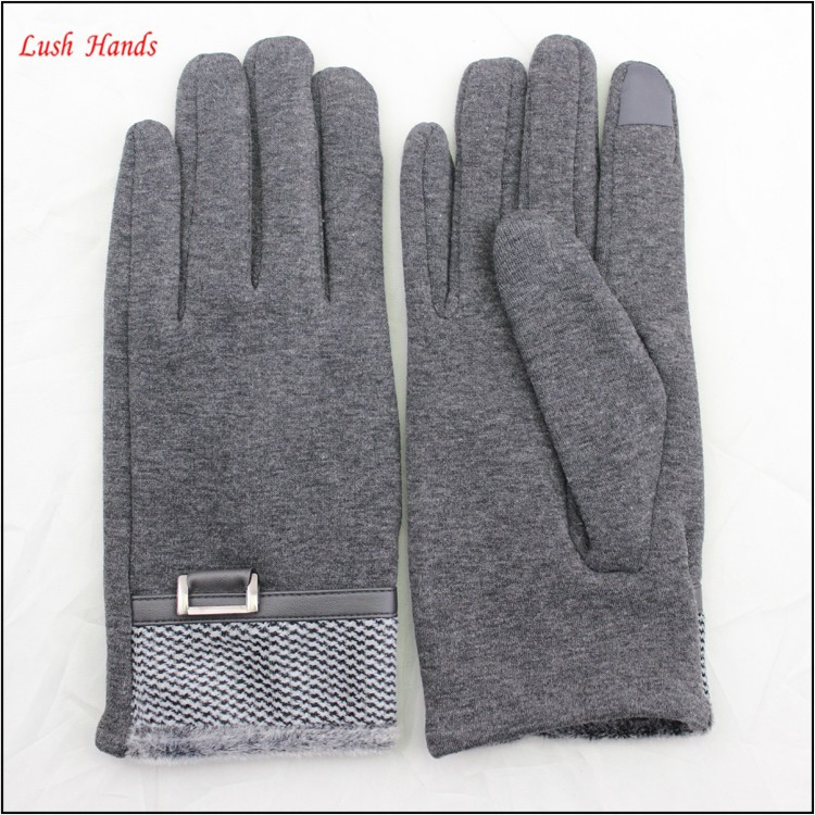 ladies micro velvet touch finger hand gloves