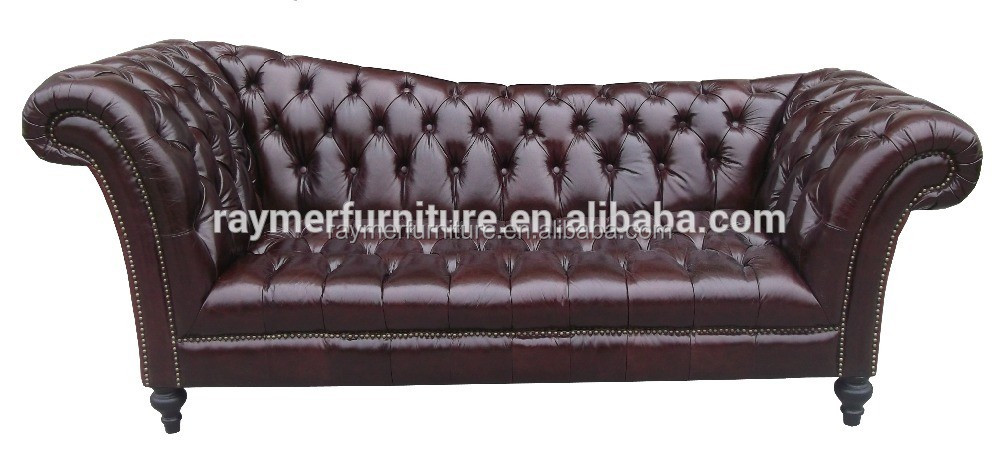 French Style Living Room Furniture Pink Velvet Chesterfield Chaise