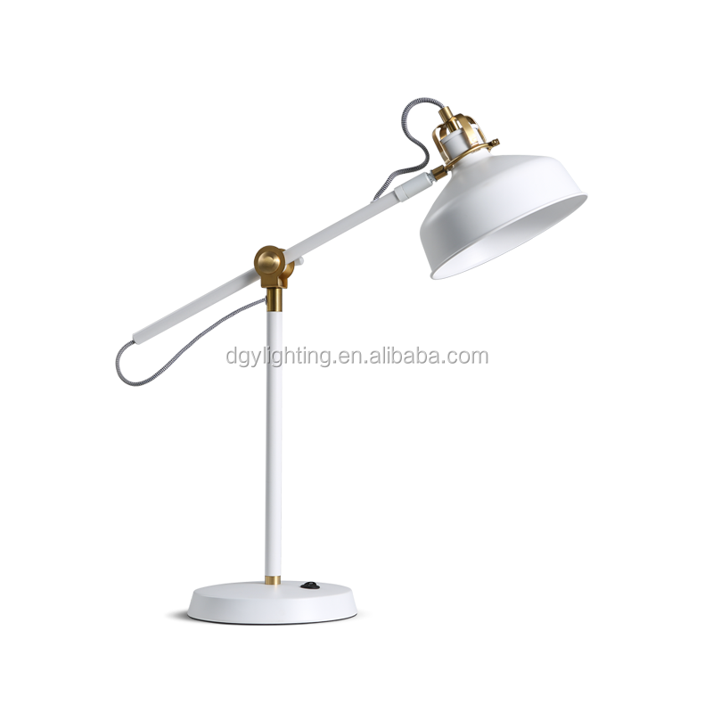 Wire control 5W LED Iron copper adjust table reading lamp