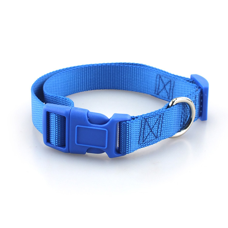 Plain Color Base Imitation Nylon Pet Collar Traction Rope Breast Strap Cross-border Special Supply