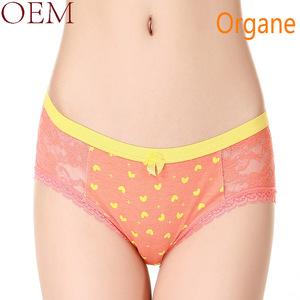 OEM Beautiful Sweet design young girls panties cotton with lace women underwear panty model/WYP016