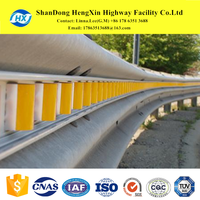 concave rail radius traffic face guardrail crash barriers for road safety system