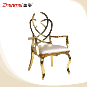 Noble luxury hotel furniture stainless steel banquet chair