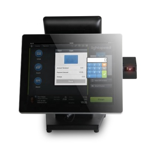 Capacitive Touch Screen Display Lcd Panel Pos System With 8 Inch Customer Display