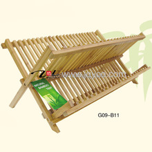 customized CHEAP bamboo plate rack, adjustable plate holders wholesale