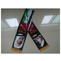 UAE national day printing flag satin scarf