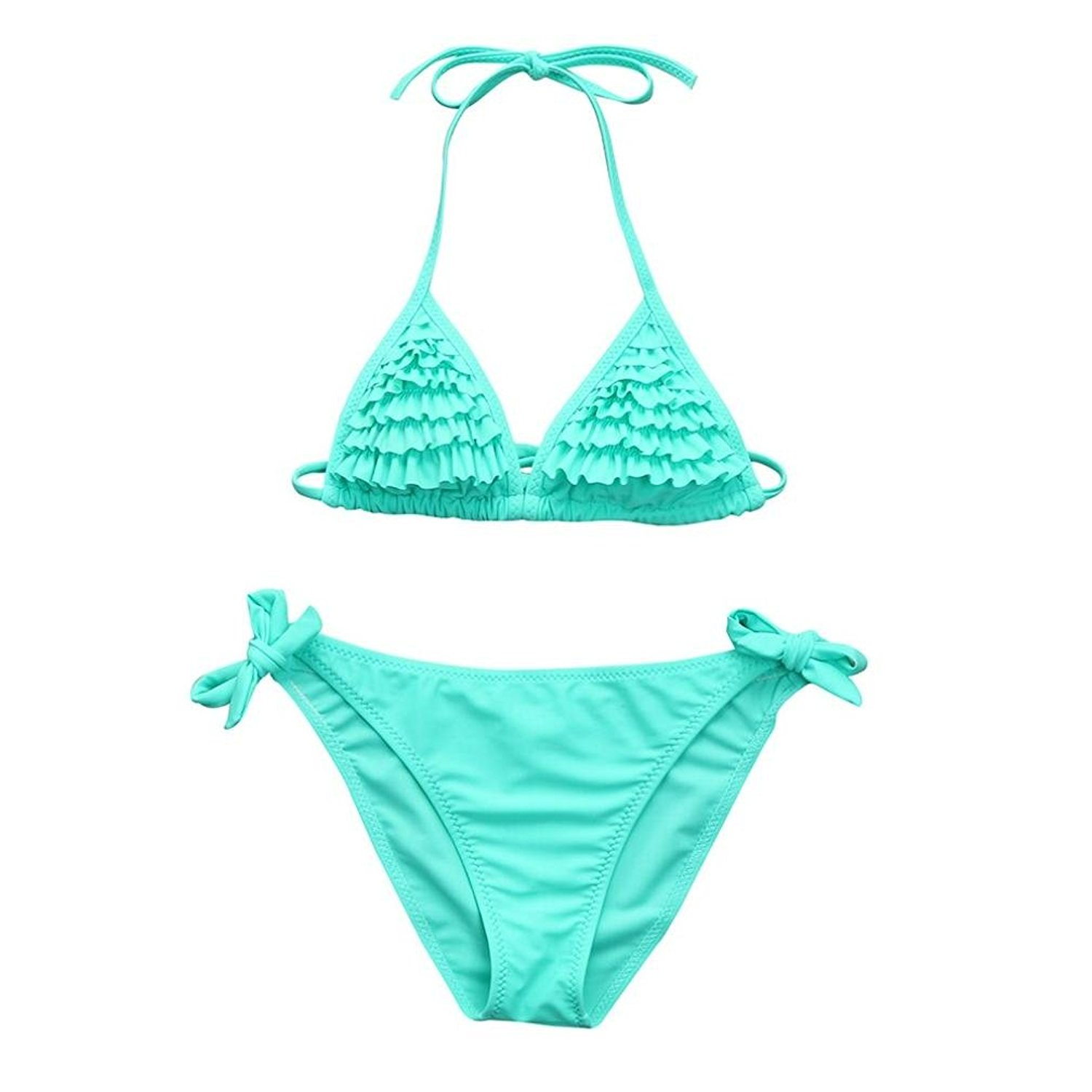 c28bccc6709b4 Get Quotations · Aniywn Swimsuit,Infant Kids Girls Solid Color Multi-Tiered  Flounce Ruffles Adjustable Swimwear Swimsuit