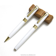 metal laser engraving machine white color ball pen with roller set with logo