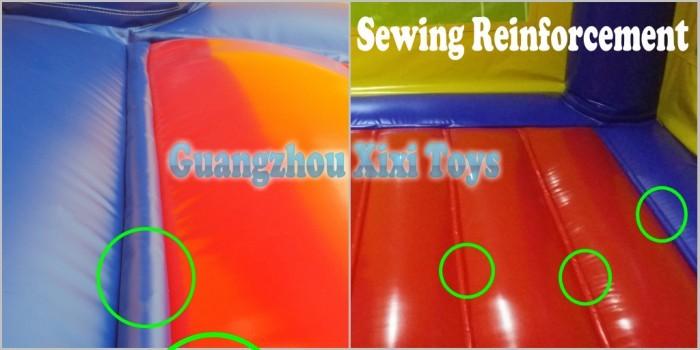 XIXI BRINQUEDOS Ao Ar Livre para Crianças e Adultos Animado Azul Onda de Água Inflável Slides Respingos Molhado