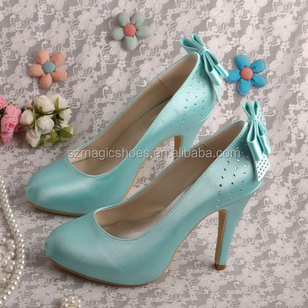 Mint Green Butterfly Shoes Wedding Heels - Buy Butterfly Shoes ...
